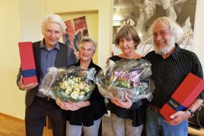 Elisabeth und Arthur Scholz, Hanna und Ueli Huber