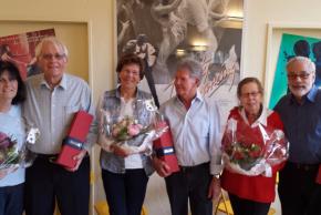 Greti und Eberhard Notter, Margrit und Kurt Breitenmoser, Ruth und Georges Hausmann