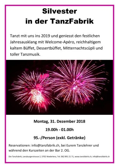 thumbnail of Flyer Silvester 2018